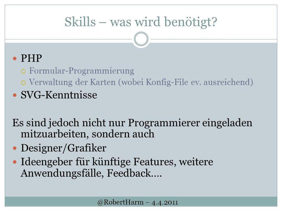 Skills – was wird benötigt