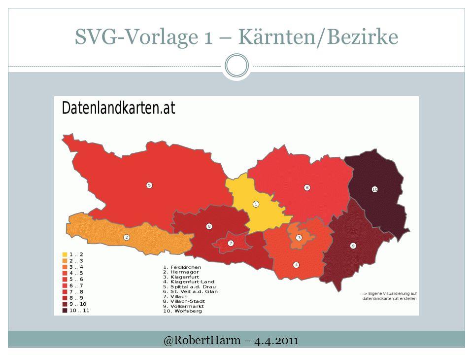 SVG-Vorlage 1 – Kärnten/Bezirke