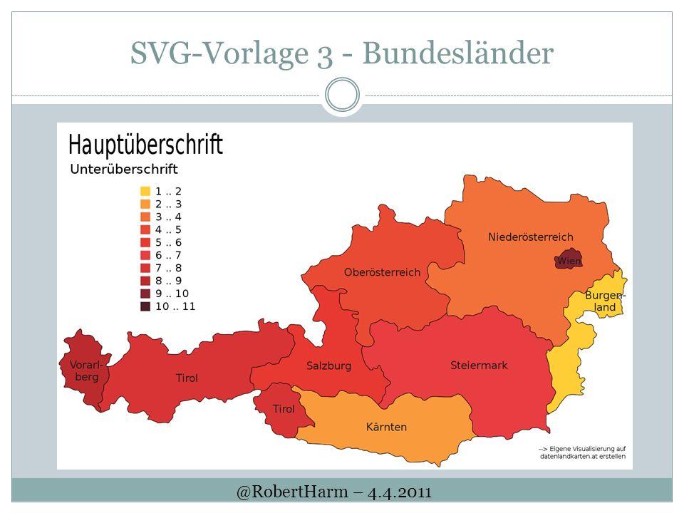 SVG-Vorlage 3 - Bundesländer