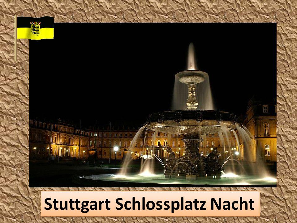 Stuttgart Schlossplatz Nacht