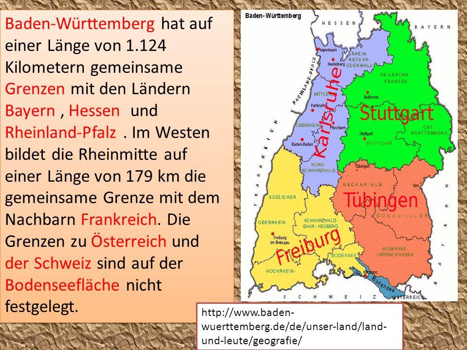 Baden-Württemberg hat auf einer Länge von 1