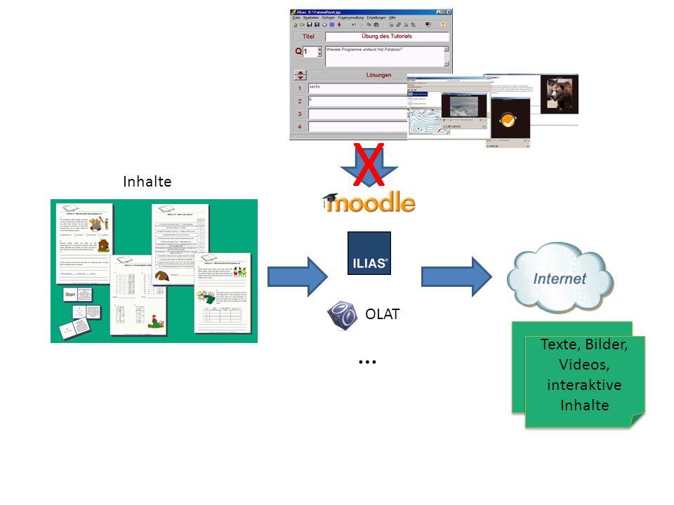 Texte, Bilder, Videos, interaktive Inhalte