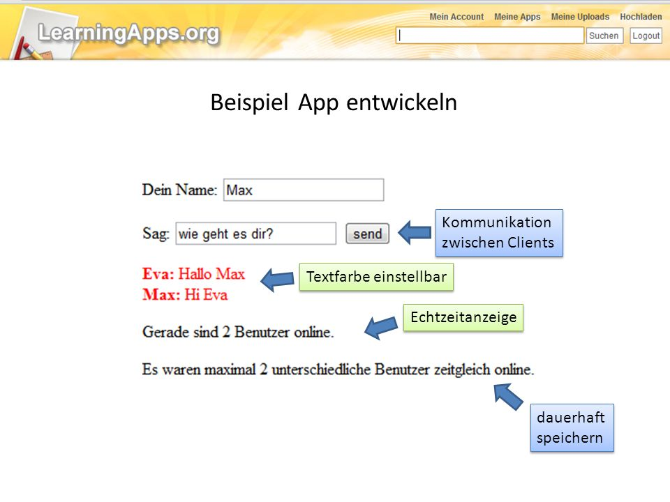 Beispiel App entwickeln