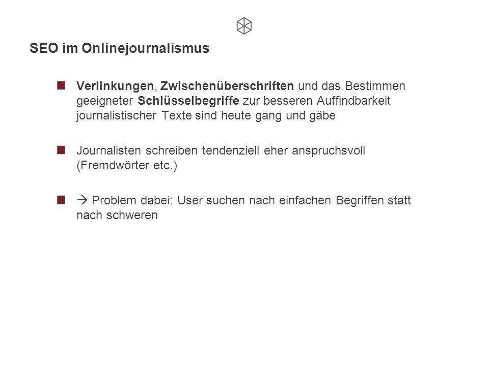 SEO im Onlinejournalismus