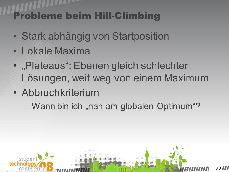 Probleme beim Hill-Climbing