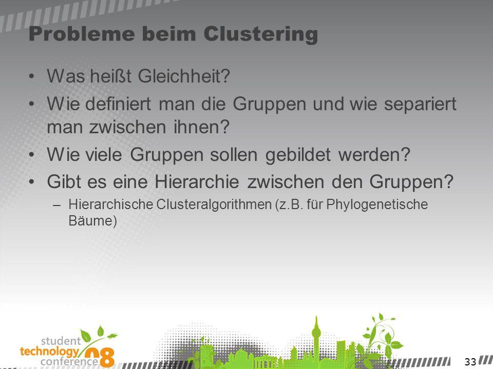 Probleme beim Clustering