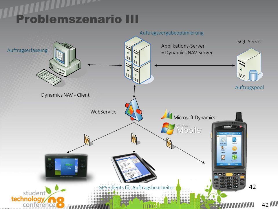 Problemszenario III 42 Auftragsvergabeoptimierung SQL-Server