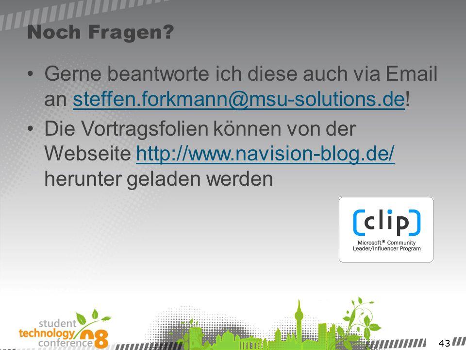 Noch Fragen Gerne beantworte ich diese auch via Email an steffen.forkmann@msu-solutions.de!