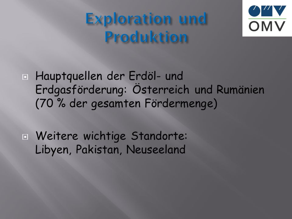 Exploration und Produktion