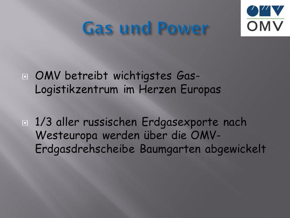 Gas und Power OMV betreibt wichtigstes Gas-Logistikzentrum im Herzen Europas.