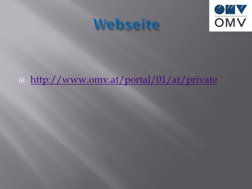 Webseite http://www.omv.at/portal/01/at/private