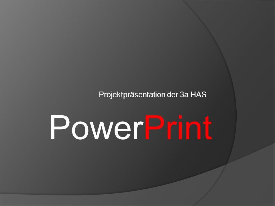 Projektpräsentation der 3a HAS