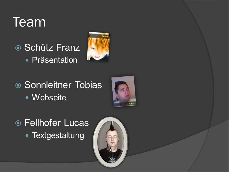 Team Schütz Franz Sonnleitner Tobias Fellhofer Lucas Präsentation