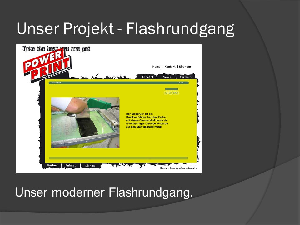 Unser Projekt - Flashrundgang