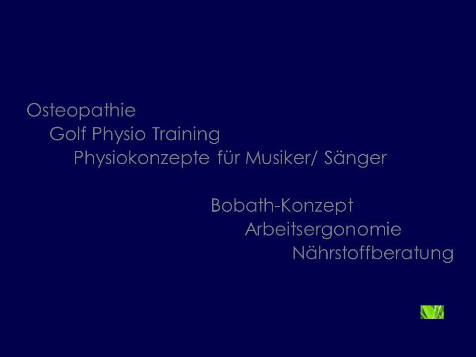 Physiokonzepte für Musiker/ Sänger