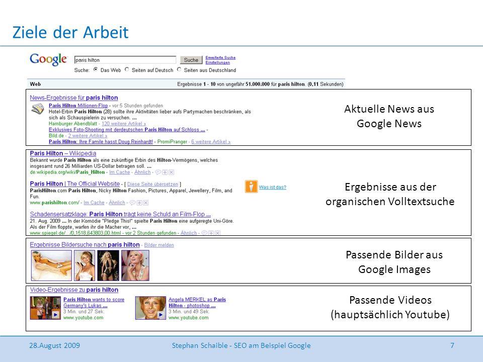 Google-SEO( Grund: Marktanteil > 80% )