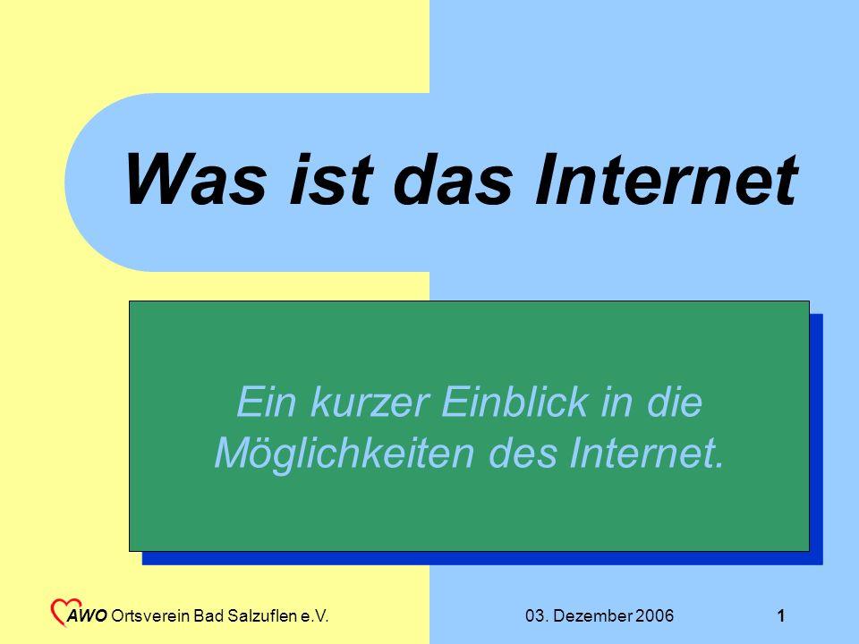 Ein kurzer Einblick in die Möglichkeiten des Internet.