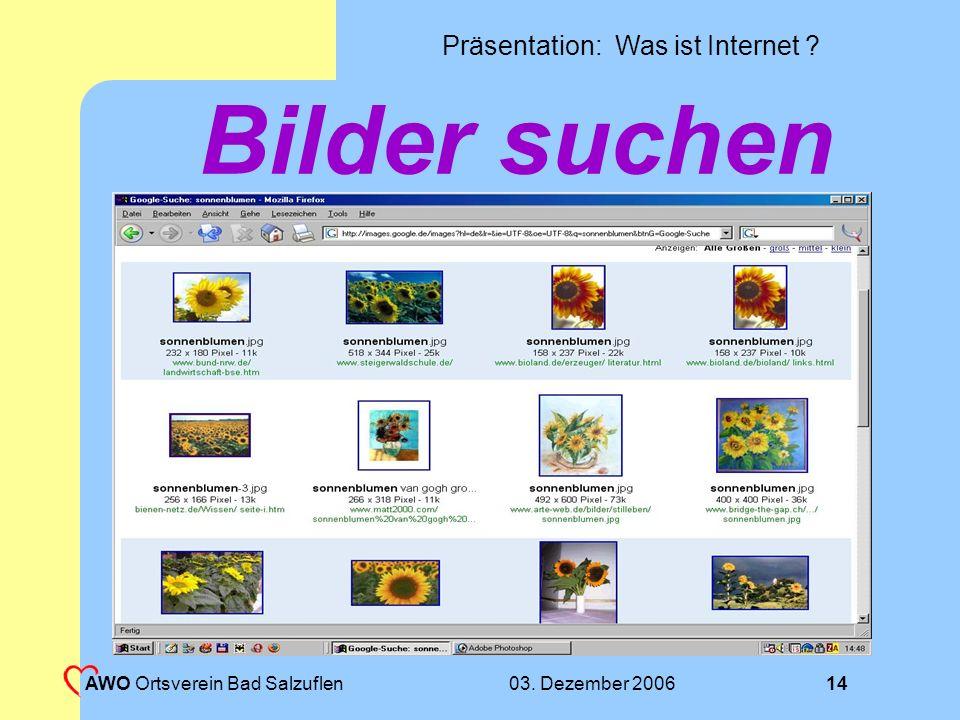 Bilder suchen AWO Ortsverein Bad Salzuflen 03. Dezember 2006