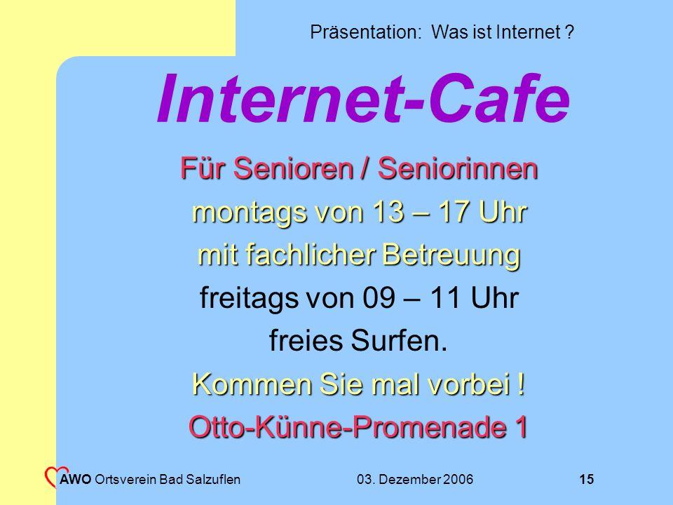 Internet-Cafe Für Senioren / Seniorinnen montags von 13 – 17 Uhr