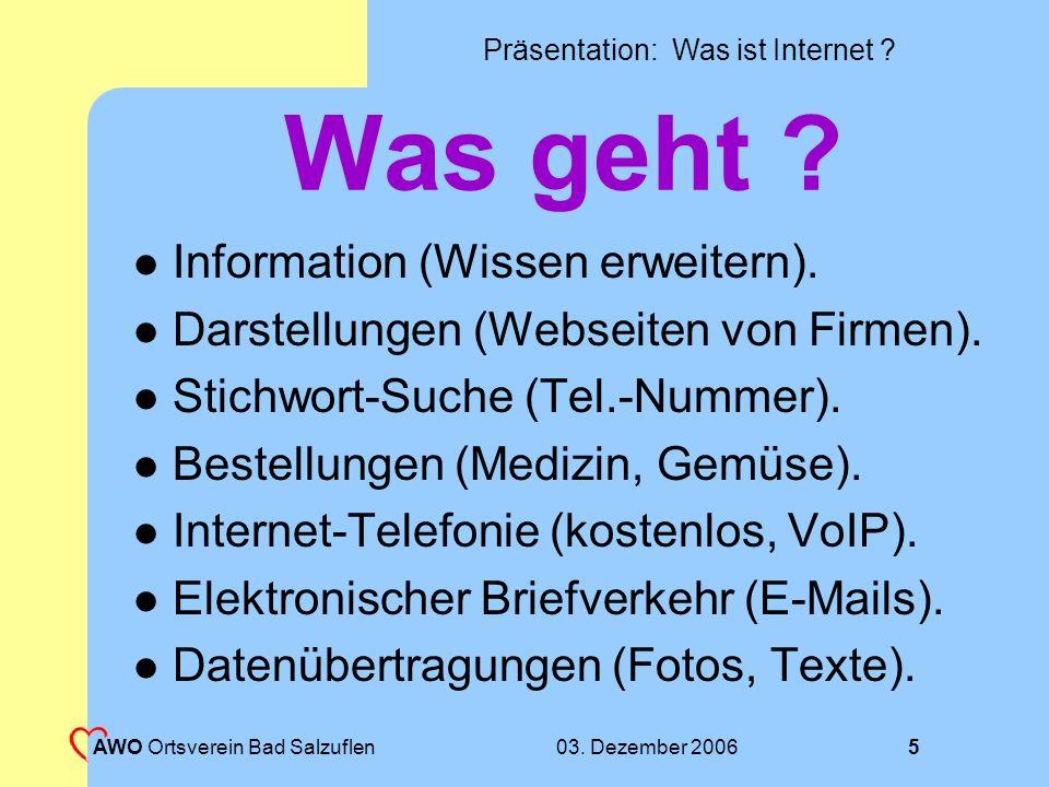 Was geht Information (Wissen erweitern).