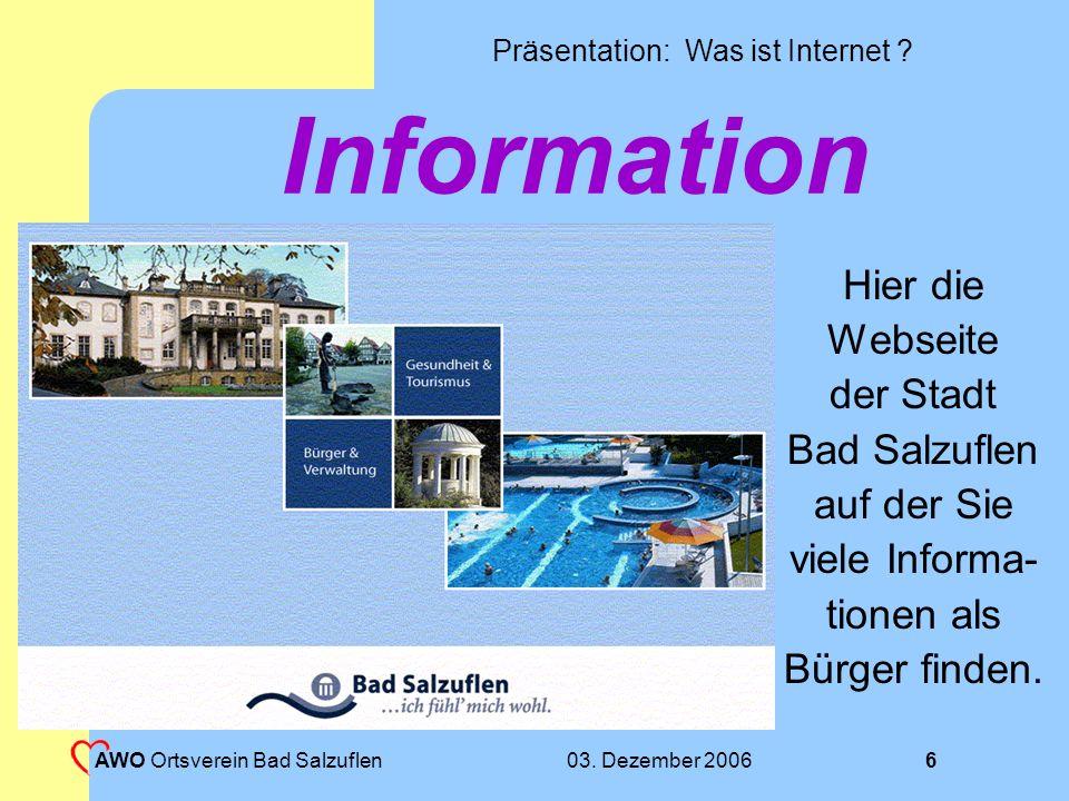 Information Hier die Webseite der Stadt Bad Salzuflen auf der Sie