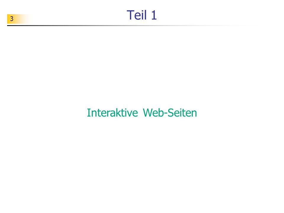 Interaktive Web-Seiten