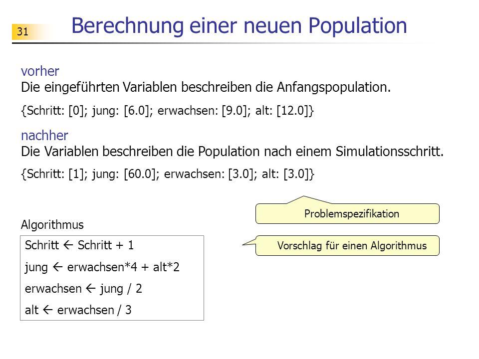 Berechnung einer neuen Population