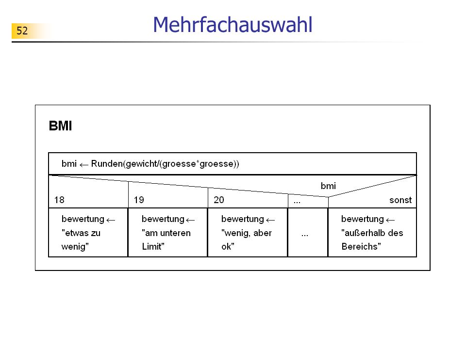 Mehrfachauswahl