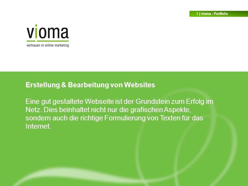 Erstellung & Bearbeitung von Websites