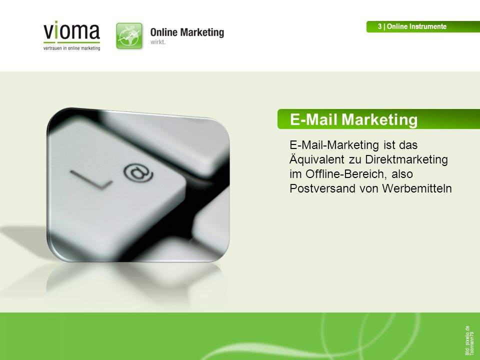 3 | Online Instrumente E-Mail Marketing.