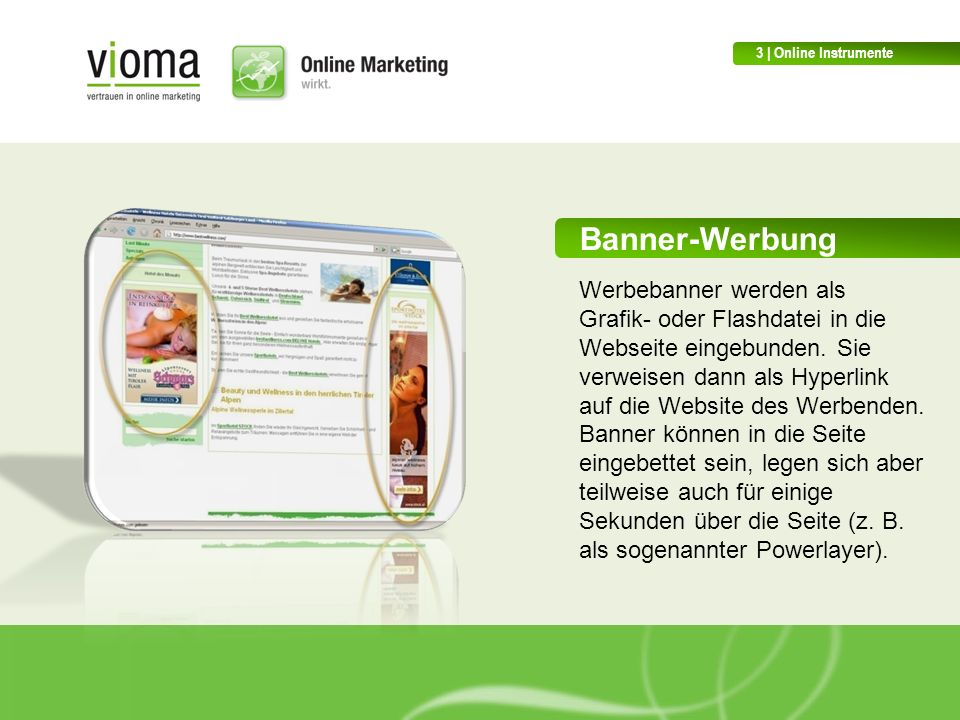 3 | Online Instrumente Banner-Werbung.