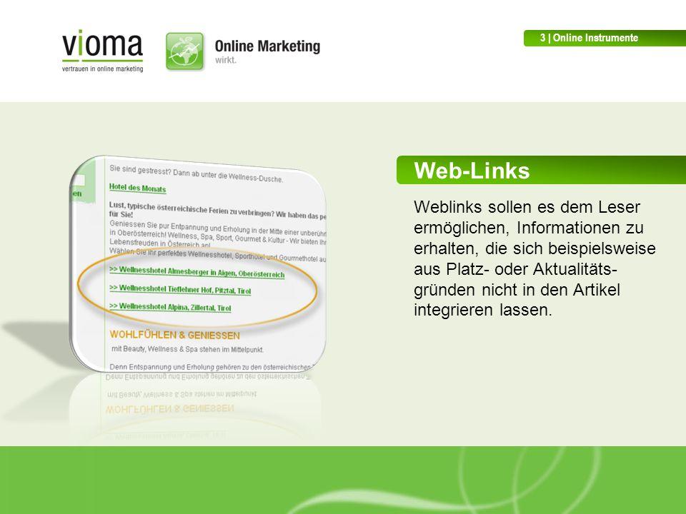 3 | Online Instrumente Web-Links.