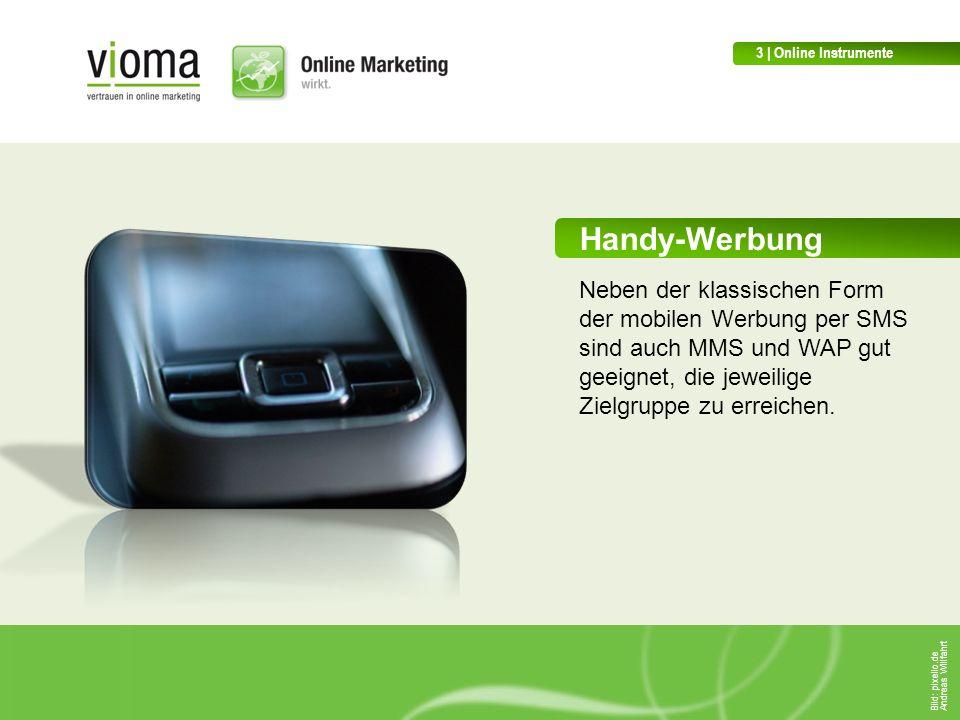 3 | Online Instrumente Handy-Werbung.