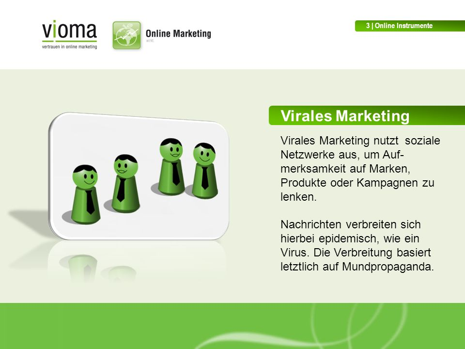 3 | Online Instrumente Virales Marketing.