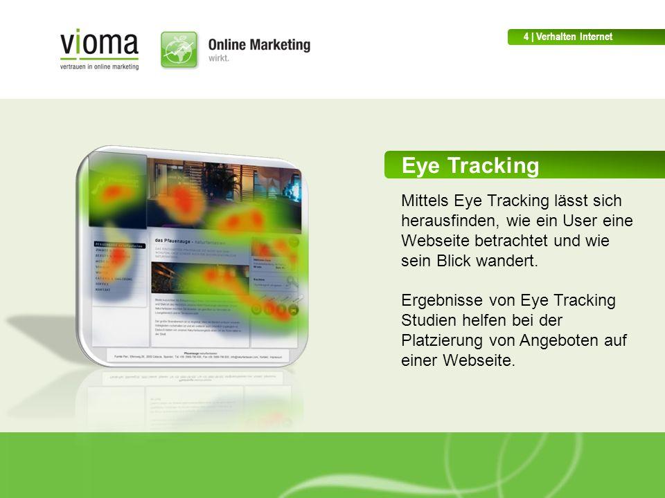 4 | Verhalten Internet Eye Tracking. Mittels Eye Tracking lässt sich herausfinden, wie ein User eine Webseite betrachtet und wie sein Blick wandert.