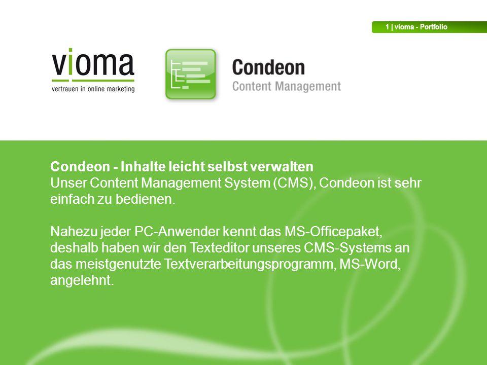 Condeon - Inhalte leicht selbst verwalten