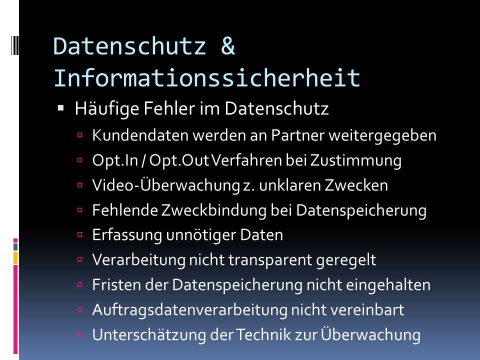 Datenschutz & Informationssicherheit