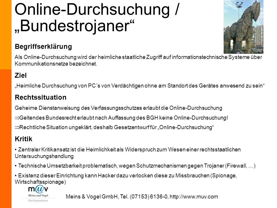"""Online-Durchsuchung / """"Bundestrojaner"""