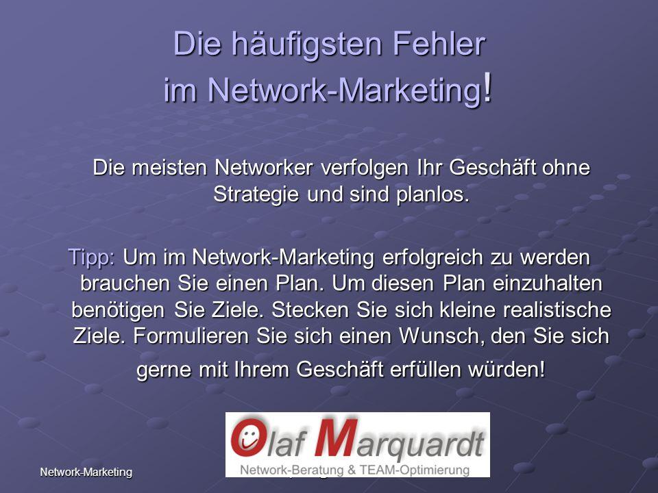 Die häufigsten Fehler im Network-Marketing!