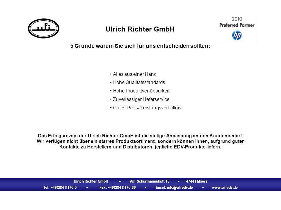 Ulrich Richter GmbH Am Schürmannshütt 15 47441 Moers