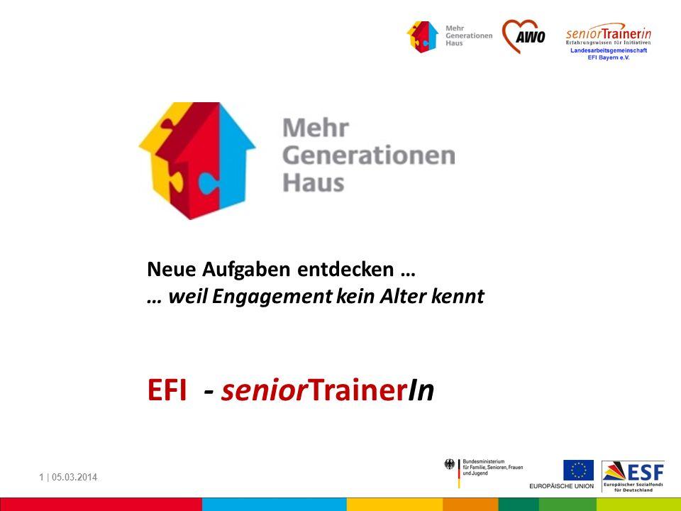 EFI - seniorTrainerIn Neue Aufgaben entdecken …