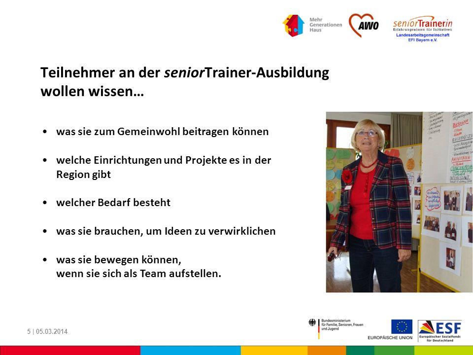 Teilnehmer an der seniorTrainer-Ausbildung wollen wissen…