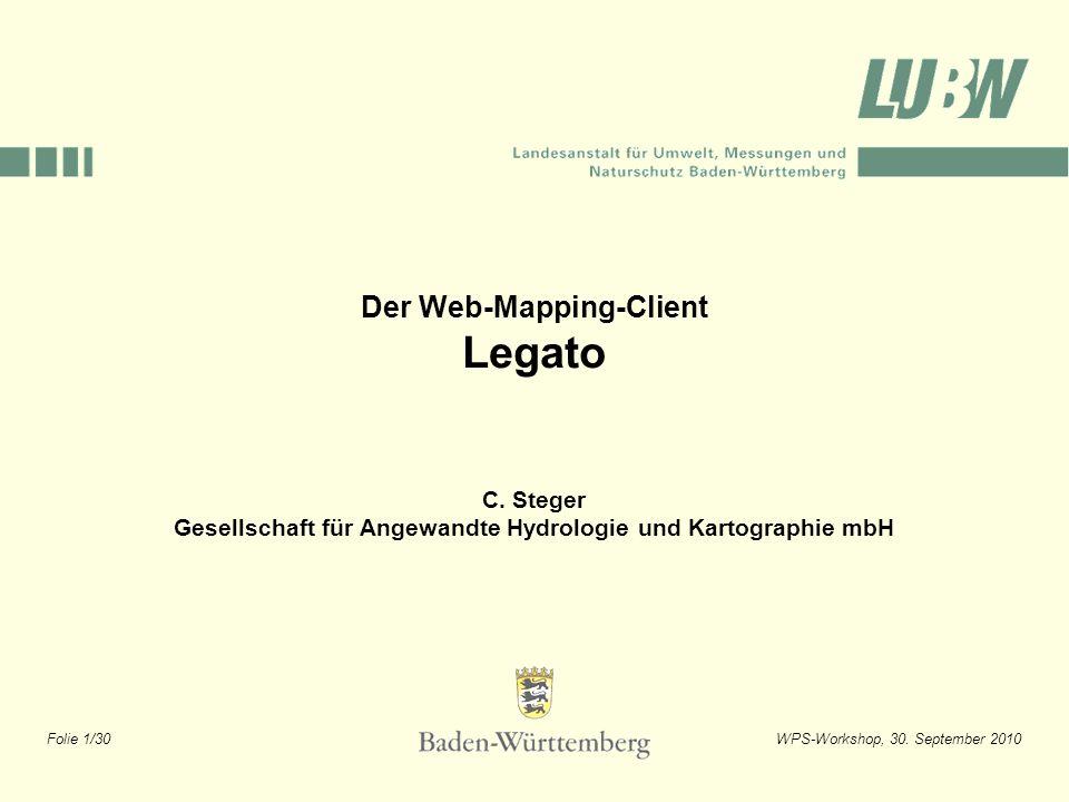 Legato Der Web-Mapping-Client C. Steger