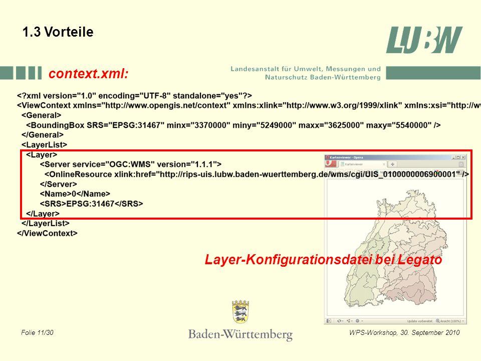 1.3 Vorteile context.xml: Layer-Konfigurationsdatei bei Legato
