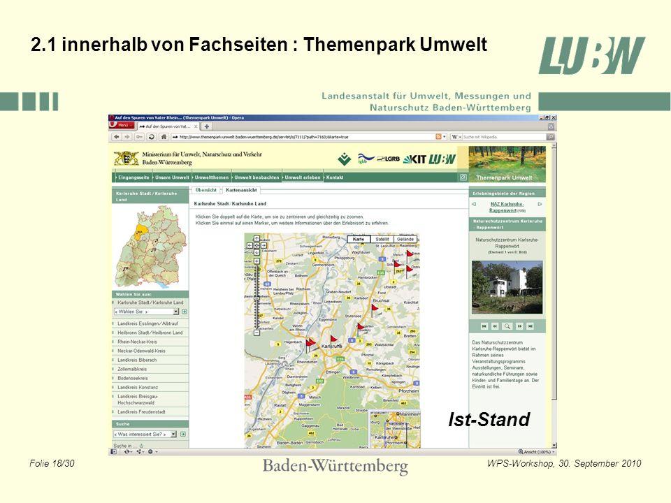 2.1 innerhalb von Fachseiten : Themenpark Umwelt