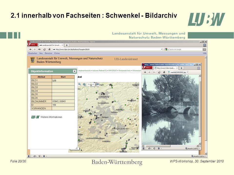 2.1 innerhalb von Fachseiten : Schwenkel - Bildarchiv