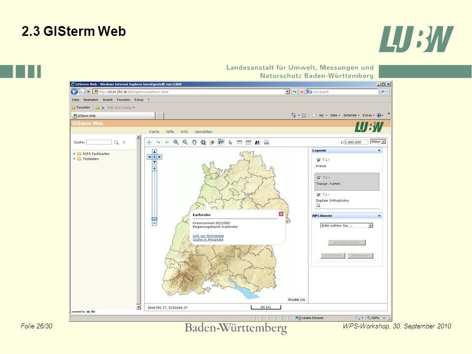 2.3 GISterm Web
