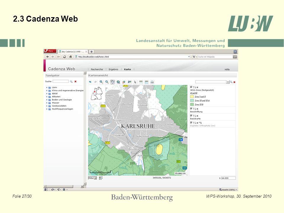2.3 Cadenza Web