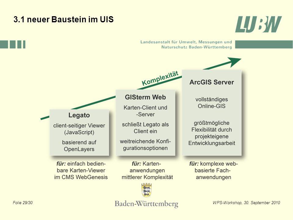 3.1 neuer Baustein im UIS