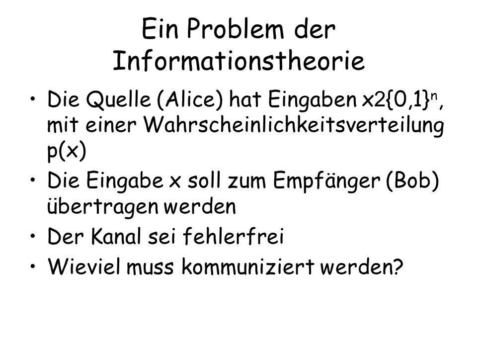 Ein Problem der Informationstheorie